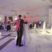 Bride and groom during their first dance at Simfonia, Esedra in Satu Mare