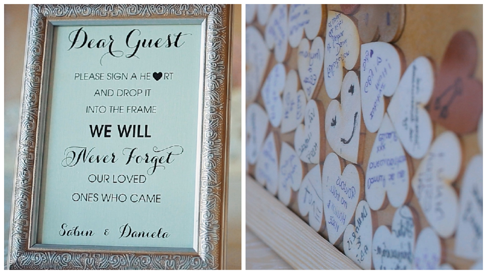 Creative wedding ideas for guests. Leave personalised messages